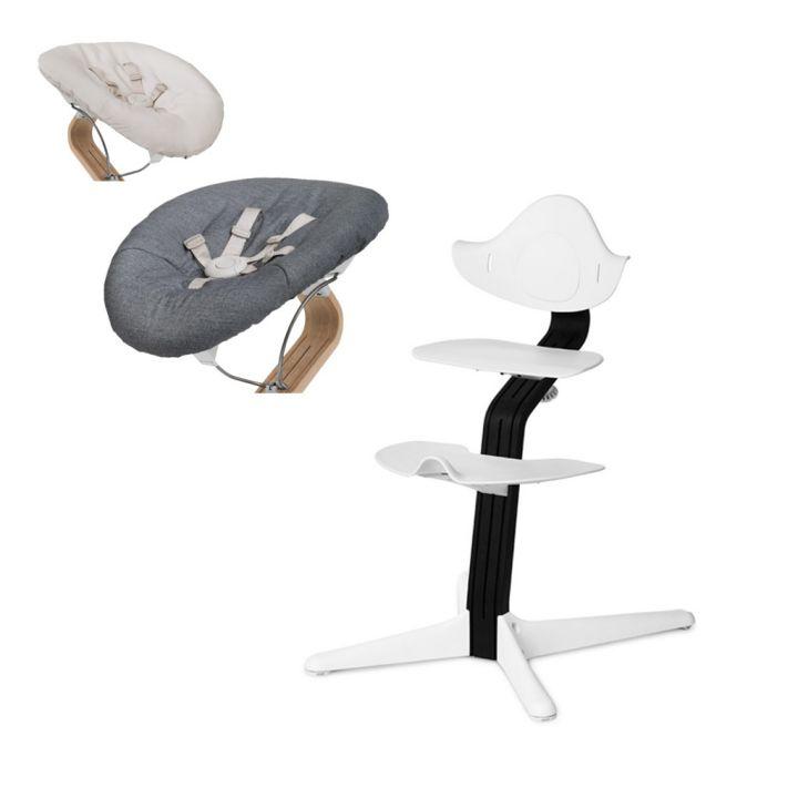 Детский стульчик-шезлонг для кормления Evomove Nomi с черный