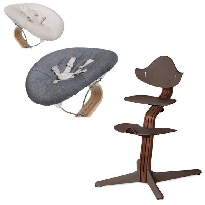 Детский стульчик-шезлонг Evomove Nomi Орех